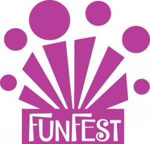 pink funfest logo for advert